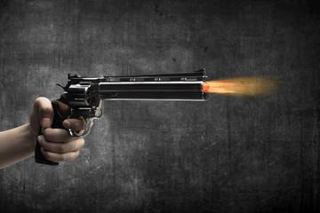 Man Hand Firing Gun