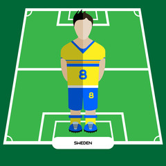 Computer game Sweden Football club player