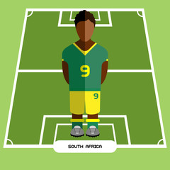 Computer game South Africa Football club player
