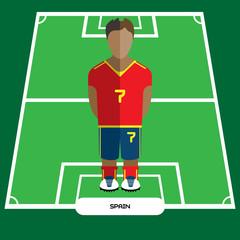 Computer game Spain Football club player