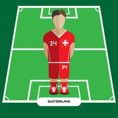 Computer game Switzerland Football club player