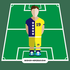 Computer game Bosnia and Herzegovina Football club player