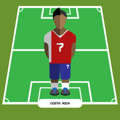Computer game Costa Rica Football club player