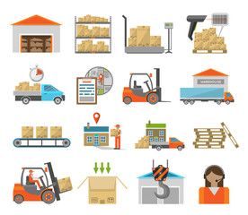 Warehouse transportation set