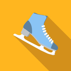 Ice skating flat icon