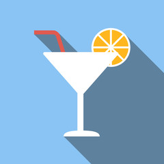 Cocktail colored flat icon
