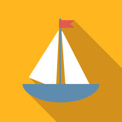Boat colored flat icon
