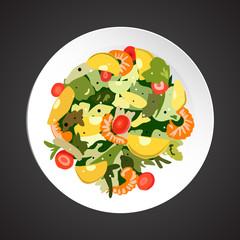 Shrimp salad illustration