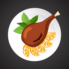Turkey shin illustration