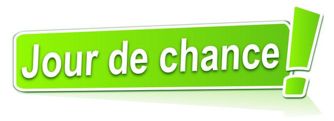 jour de chance sur étiquette verte