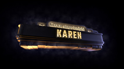 Classic cinema billboard Karen