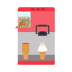 Machine for ice-cream pink color