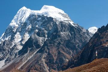 Fototapete - Langshisa Peak (Langshisa Ri), Langtang National Park, Rasuwa Dsitrict, Nepal