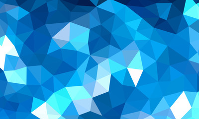 Low Poly Background Blue 1