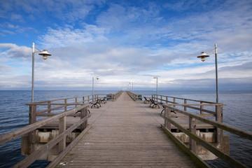 Seebrücke Bansin an der Ostsee in Mecklenburg Vorpommern