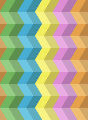 Colorful seamless zig zag pattern. Abstract vector background