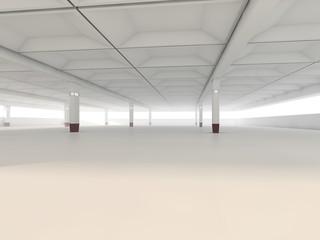 Empty parking area 3D rendering