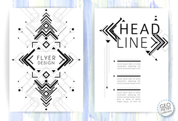 Geometric abstract flyer / brochure template / design elements / modern background