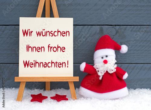 Wir wünschen Ihnen frohe Weihnachten\