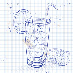Cuba Libre on a notebook page