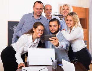 Selfie at office.