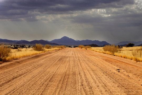 desert landscape after a storm, northern Namibia