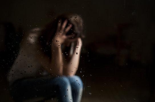 depression from abortion not povratno girls. on a dark background