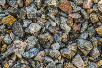 Crushed stone.