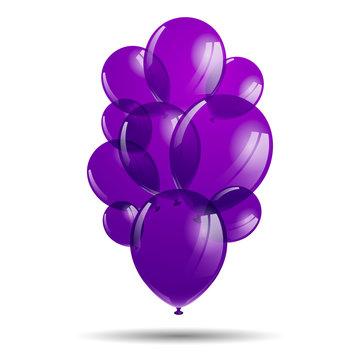 Vector Illustration of Purple Balloons