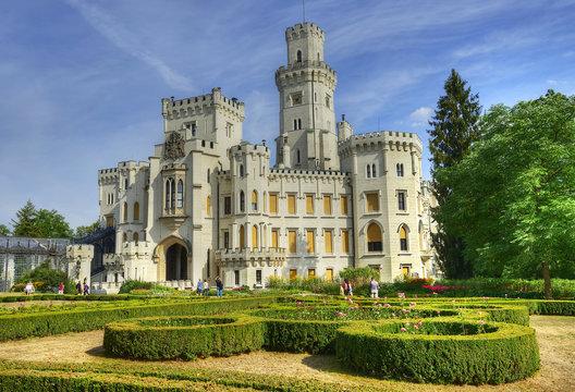 Beautiful renaissance castle Hluboka. Czech Republic