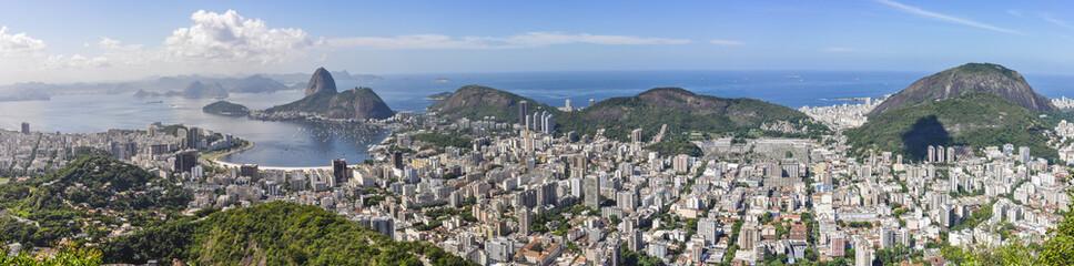 In de dag Rio de Janeiro Panorama in Rio de Janeiro, Brazil