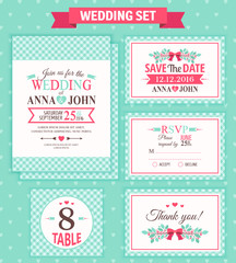 Wedding set. Vector illustration