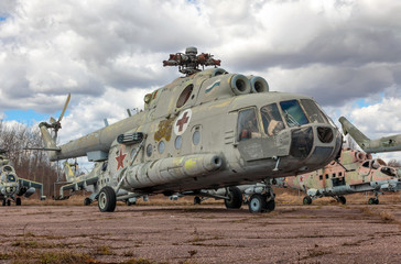 The old Soviet ambulance helicopter