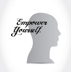 Empower Yourself mind sign concept