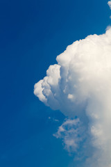 Group of cloud and  blue sky on day time for background