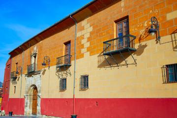 Leon Obispado facade in Plaza Regla square Spain