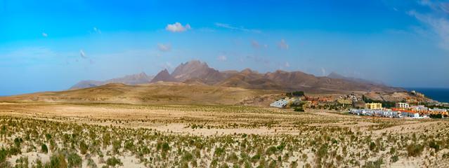 Foto auf Leinwand Fantasie-Landschaft Landscape mountain fantasy Fuerteventura Canary islands, Spain