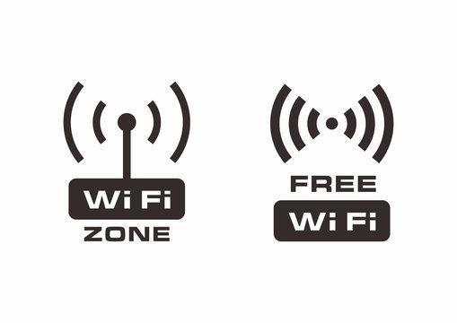 Vector free wi-fi label