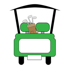 Green Golf Cart