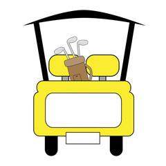 Yellow Golf Cart