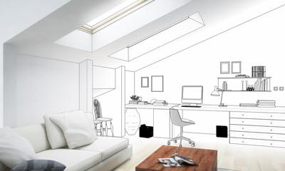 Dachboden-Adaptation (Entwurf)