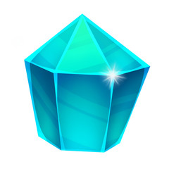 Illustration: The Diamond Gem. Element Creation. Game Assets.