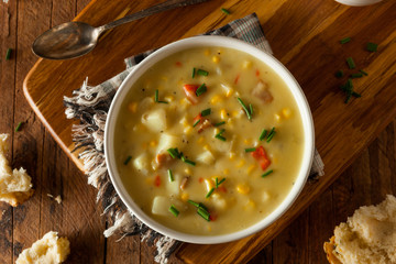 Hot Homemade Corn Chowder