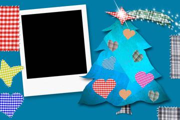 Children Christmas Card with framework