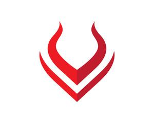 V fire logo