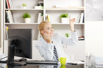 Sales woman at office