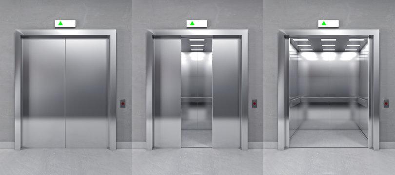 3d modern elevator