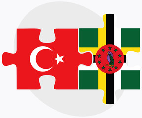 Turkey and Dominica Flags