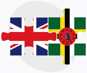 United Kingdom and Dominica Flags