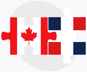 Canada and Dominican Republic Flags